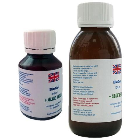 Биогель для педикюра и маникюра на основе фруктовых кислот с алоэ вера