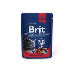 """Пауч для кошек, Brit Premium, """"Говядина и горошек"""""""