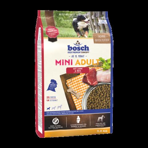 Bosch Mini Adult Сухой корм для собак мелких пород с ягненком и рисом