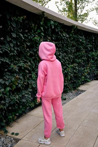 Спортивный костюм на флисе розовый недорого