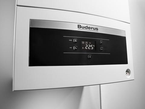 Buderus Logamax U072-28 Газовый Атмосферный котел Белый Панель крупно