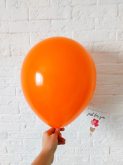 оранжевый гелиевый шар