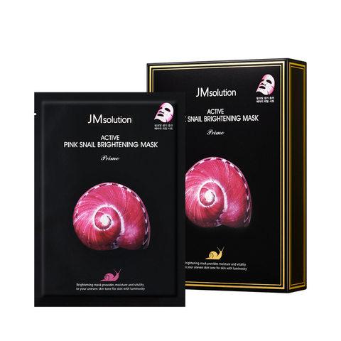 Ультратонкая маска с муцином розовой улитки JMsolution Active Pink Snail Brightening Mask Prime