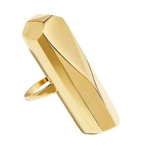 Золотистое кольцо-вибратор Palma Gold Size 7