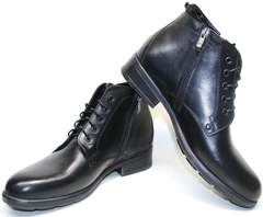 Зимние ботинки мужские кожаные Ikoc 2678-1 S