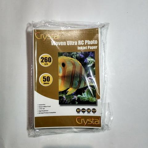 Фотобумага Crystal 260г/м2, 10*15, 50л. RC Woven (Полотно), пластиковое покрытие