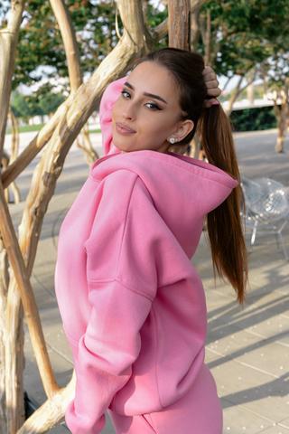 Спортивный костюм на флисе розовый интернет магазин