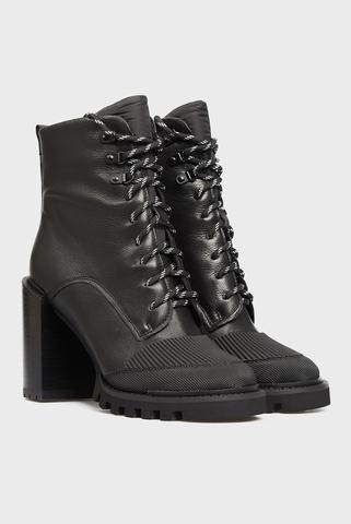 Женские черные кожаные ботильоны Funi PRPY