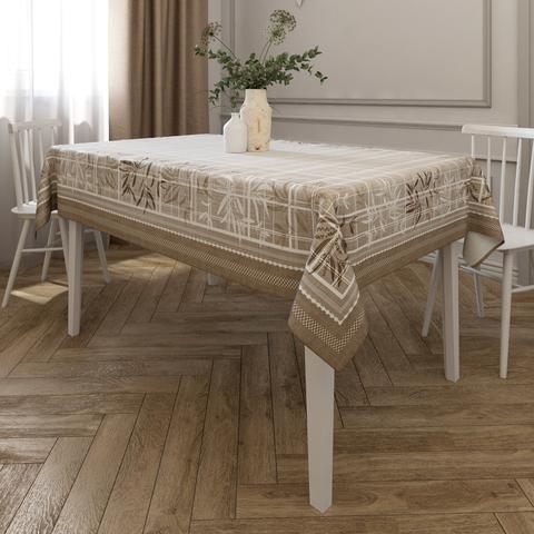 скатерть демодекор коричневая на прямоугольный стол