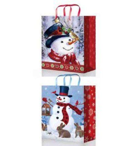 Новогодние подарочные пакеты 41х56х24 из ламинированной бумаги  Микс