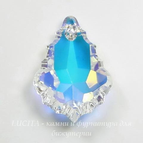 6090 Подвеска Сваровски Baroque Crystal AB (22х15 мм)