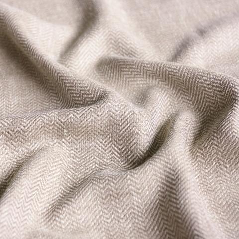 Ткань под лен Белла коричневый