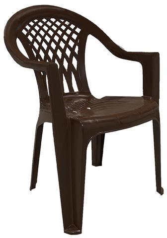 Кресло пластиковое коричневое