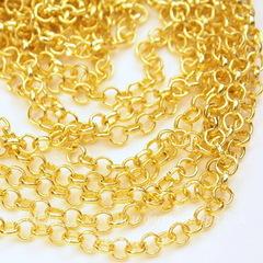 Цепь (цвет - золото) 4 мм
