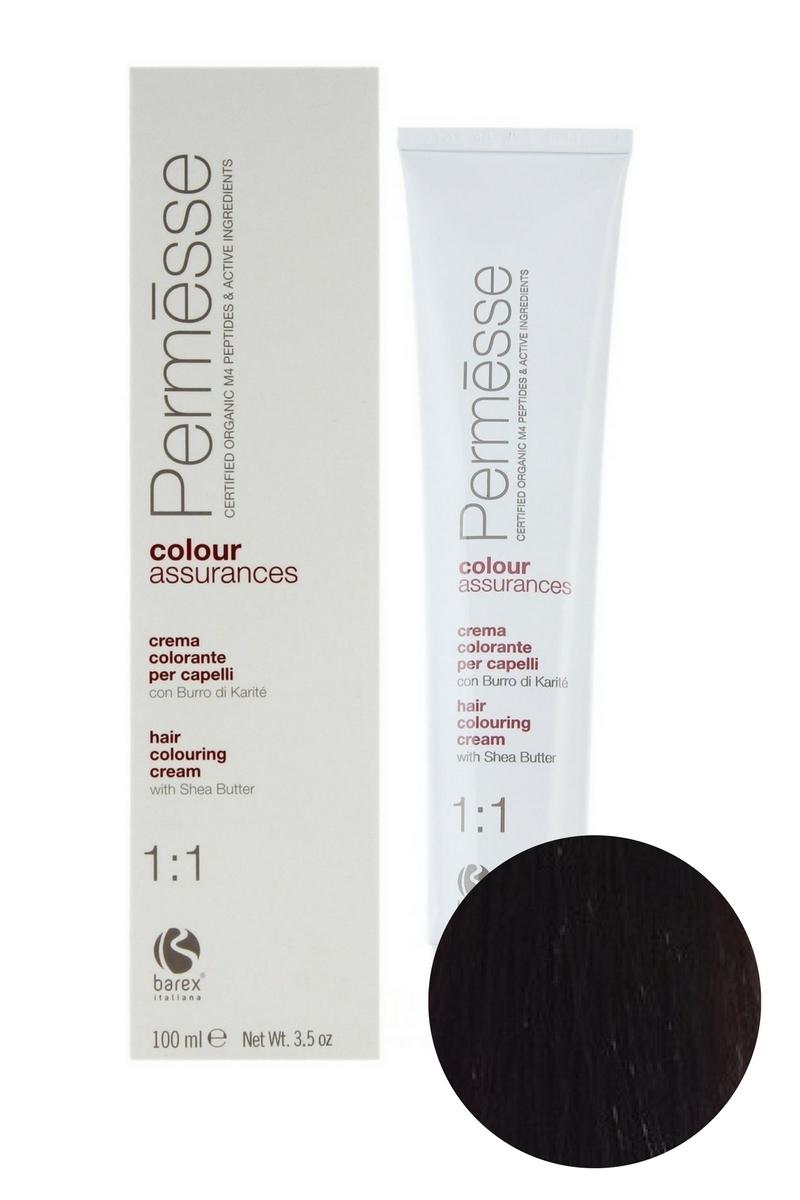 Крем-краска для волос 5.7 Светлый каштан фиолетовый Permesse, Barex