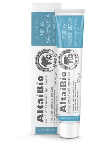 Алтайбио Зубная паста для чувствительных зубов Липа-календула фото1
