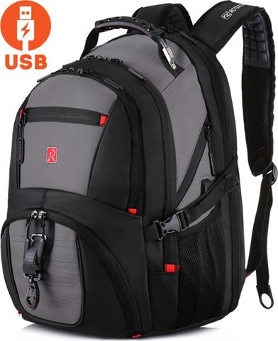 Рюкзак ROTEKORS 8112 USB Серый