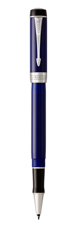 Ручка-роллер Parker Duofold Classic International, Blue and Black CT, FBlack123
