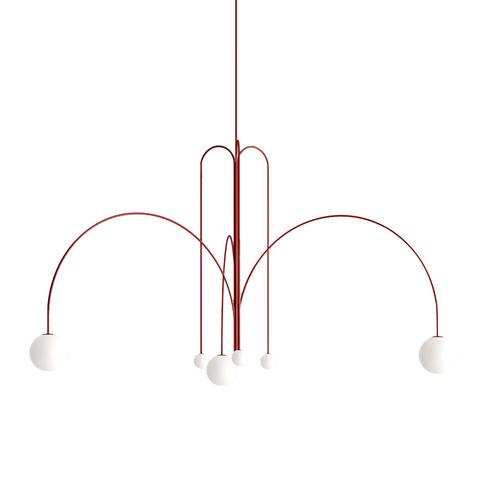 Потолочный светильник Spring by Michael Anastassiades (красный)