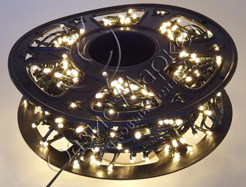 Гирлянда светодиодная уличная нить 48м 600LED тепл/бел