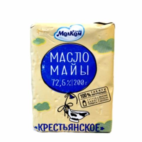 Масло КРЕСТЬЯНСКОЕ 72,5% 200 гр Молком КАЗАХСТАН