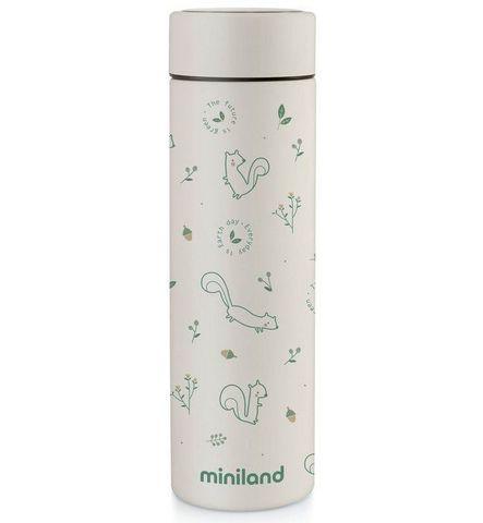 Miniland Natur Thermos Chip Детский термос для еды и жидкостей, бурундук, 450 мл