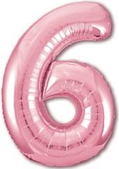 Р Цифра, 6 Slim, Розовый фламинго,40''/102 см, 1 шт. в упак.