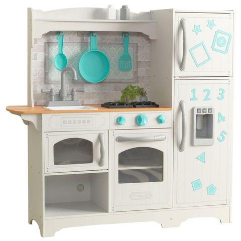 KidKraft Загородная белая с бирюзовым - детская кухня 53424_KE
