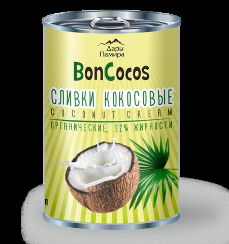 Сливки кокосовые BONCOCOS, органические, жирность 22%, Шри-Ланка, ж/б 400 мл