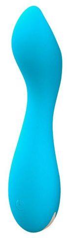 Голубой мини-вибратор Tarvos - 11,7 см.