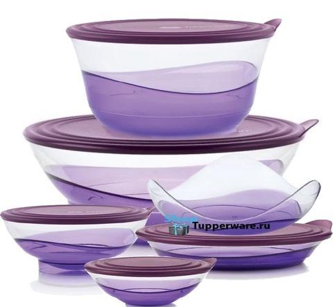 Набор чаш Элегантность Tupperware в сиреневом цвете рис.2