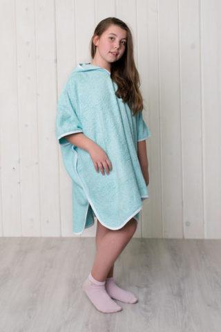 Детский халат пончо (Голубой)