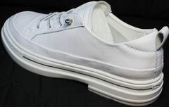 Кроссовки под туфли спортивные женские El Passo sy9002-2 Sport White.