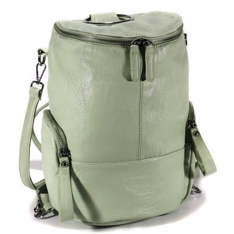 Мятный рюкзак из искуственной кожи в форме боченка