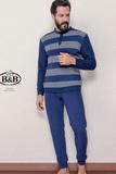Теплый мужской костюм в полоску B&B