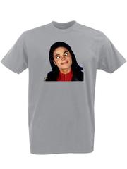 Футболка с принтом Майкл Джексон (Michael Jackson) серая 003