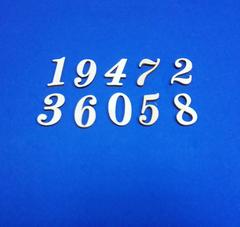 Цифры, 3 мм, деревянные, высота 3 см (микс), 1 шт.
