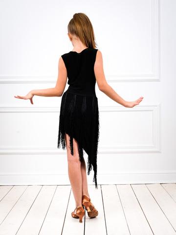 Платье для латины с бахромой