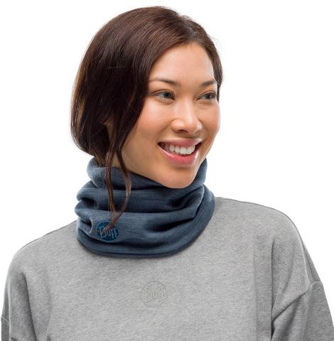 Теплый шерстяной шарф-труба Buff Wool heavyweight Ensign Multi Stripes фото 2