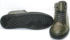 Теплые ботинки на толстой подошве мужские осень зима термо Luciano Bellini BC2803 TL Khaki.