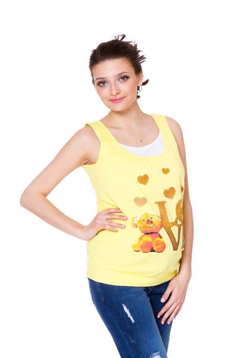 Майка для беременных и кормящих 08629 лимонный