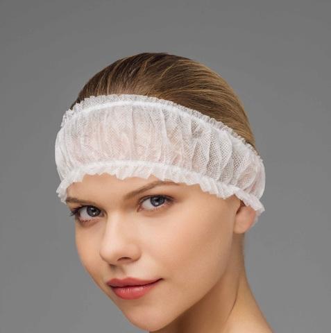 Фиксатор для волос (Спанбонд, белый, 10 шт/упк, штучно)