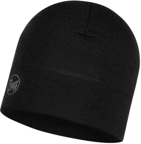 Шерстяная шапка Buff Hat Wool Midweight Solid Black фото 1