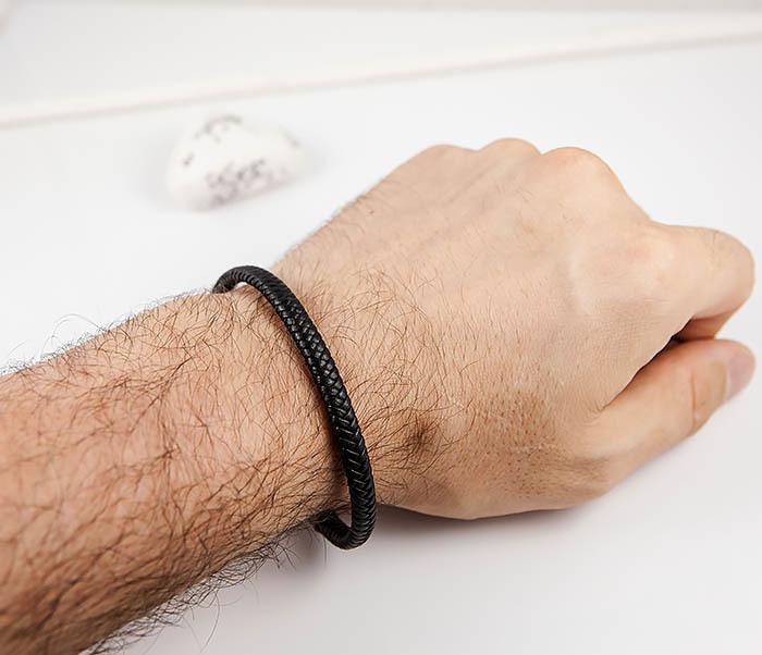 BM529-1 Тонкий мужской браслет из плетеного шнура фото 09