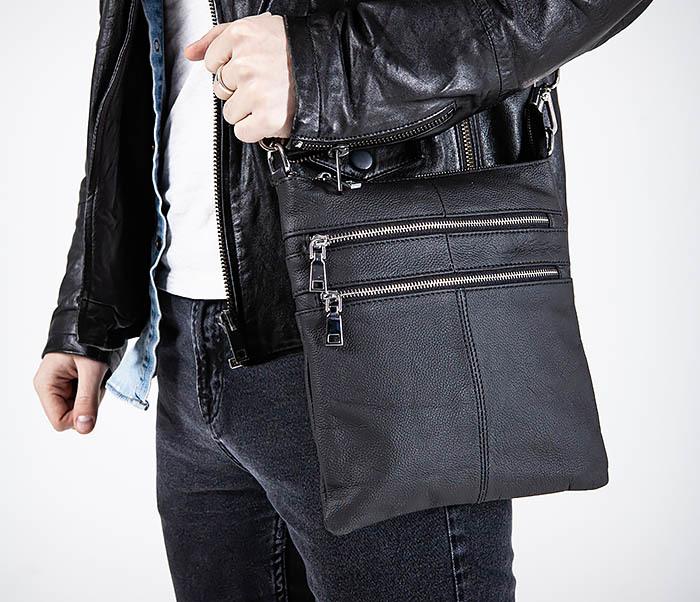 BAG538-1 Мужская сумка планшет с ремнем через плечо