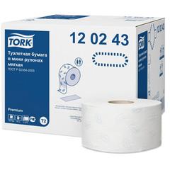 Бумага туалетная в рулонах Tork Premium T2 2-слойная 12 рулонов по 170 метров (артикул производителя 120243)