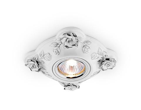 Встраиваемый потолочный точечный светильник D5504 W/CH белый хром керамика
