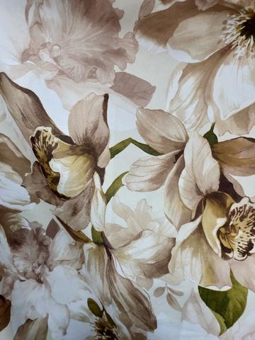 Блэкаут цветы бежевые. Арт. КL-11-03