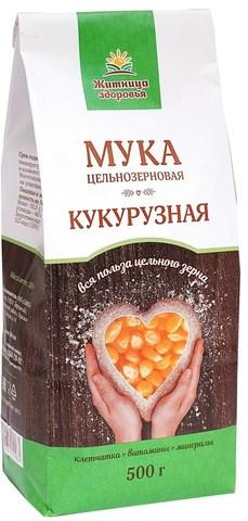 Мука кукурузная цельнозерновая, 500 гр. (Житница здоровья)