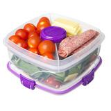 Контейнер для салата с разделителями и приборами TO-GO 1,1л, артикул 21356, производитель - Sistema, фото 6